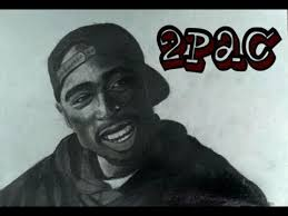how to draw tupac shakur 2pac step by step portrait youtube