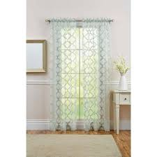 better homes and gardens sheer trellis curtain panel green