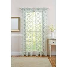 better homes and gardens sheer trellis curtain panel green juniper
