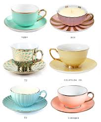 pretty tea cups eat drink chic