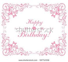 Border Designs For Birthday Cards Free Borders And Vector Flourishes Download Free Vector Art