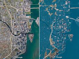 Charleston Flood Map Before And After Photos Of Us Cities In The Year 2100 Business
