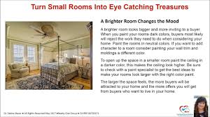 tips to make smaller rooms larger when selling your san diego home
