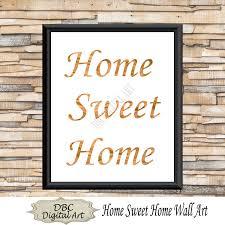 paper bag home sweet home wall art inspirational wall art wall