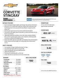 corvette c7 stingray specs 2014 c7 corvette stingray horsepower and torque specs 455