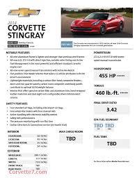 c7 corvette specs 2014 c7 corvette stingray horsepower and torque specs 455