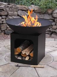 Firepits Co Uk Cast Iron Firepit With Log Store Savvysurf Co Uk