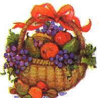 thanksgiving basket clipart clipartxtras