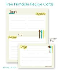 printable recipe cards 4 x 6 free printable recipe cards 4x6 or letter sized for a 3 ring binder