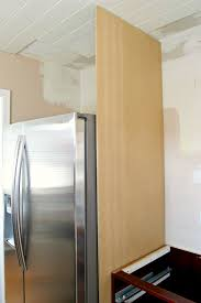 refrigerator cabinet side panels how to build a diy refrigerator cabinet