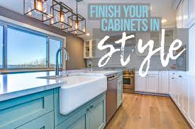 how to stain and seal unfinished cabinets complete guide to finishing cabinets