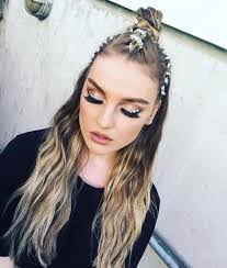Dirty Hair Extensions by V I B E S Perrie Little Mix Wearing Our Luxe Vol Clip