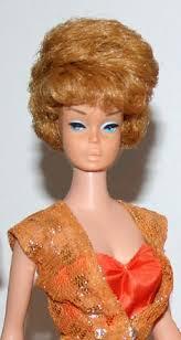 bubble cut hair style vintage barbie 6 brunette ponytail orig wraps oss box liner etc