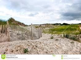 cape cod beach fence stock photo image 40243189