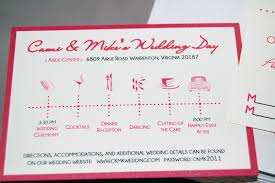 fine prints cami u0027s dark pink and red wedding invitations