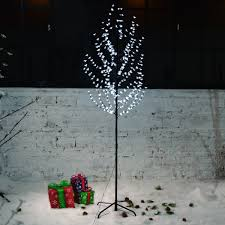 Branch Christmas Tree With Lights - excelvan 2 2m pre lit cherry blossom led tree light decorative