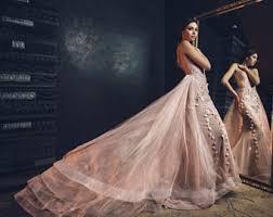 Unique Wedding Dress Pink Wedding Dress Etsy