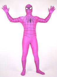 halloween costume pink spiderman zentai 17030601 cosercosplay com