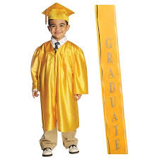 cap and gown for preschool shiny grad set with 2017 graduation ribbon sash ideal for both
