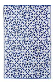 Outdoor Recycled Plastic Rugs Outdoor Rug Recycled Plastic San Juan Rug Blue And White U2013 Floorsome