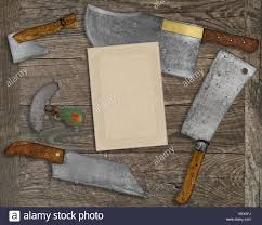 vintage kitchen knives vintage kitchen knives and utensils wooden board blank card
