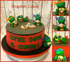 turtle baby shower turtles baby shower cake tmnt cake all edible characters