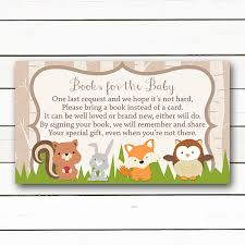 baby shower instead of a card bring a book woodland baby shower baby shower bring a book instead of a card