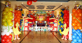sesame decorations sesame 1st birthday party ideas balloons decoration with