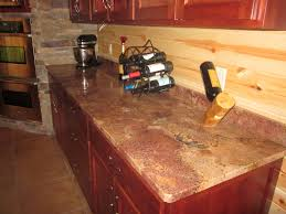granite countertop wickes kitchen drawers copper tile backsplash
