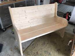 How To Make A Curved Bench Seat How To Build A Church Pew Free Diy Plans Rogue Engineer