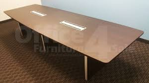 boat shaped conference table chiarezza 10 ft boat shaped conference table with brushed aluminium