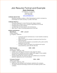 how to write a resume for a job example