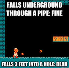 Video Game Logic Meme - holes how do they work video game logic know your meme