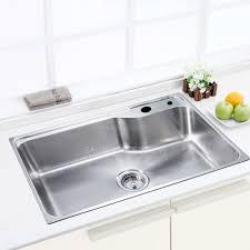 Single Bowl Kitchen Sink Top Mount Adorable 304 Large Capacity Single Bowl Kitchen Sink 351 99 In