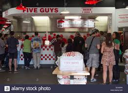 Family Restaurants In Covent Garden Five Guy U0027s Burger Restaurant Covent Garden London Stock Photo