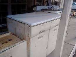metal kitchen sink and cabinet combo vintage 1950 s white metal kitchen sink and