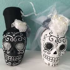 day of the dead groom sugar skull ornaments wedding dia de