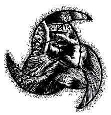 odin design fantastic angry in odin horns design by vikingmayke