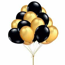 party balloons 50pcs lot 10inch gold black helium balloons for
