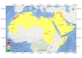 middle east map changes detecting changes in vegetation trends in the middle east and