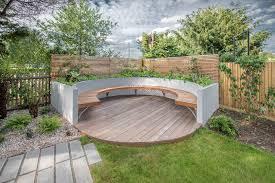 garden seat ideas deck contemporary with plank paving outdoor