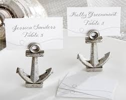 nautical wedding favors nautical anchor place card photo holder set of 6 nautical