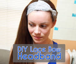 lace headband diy lace bow headband 5 steps with pictures
