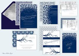 sle wedding invitations winter wedding invitations formal navy silver snow and