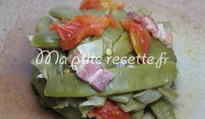 cuisiner les haricots plats haricots plats à la landaise recette accompagnement haricot vert