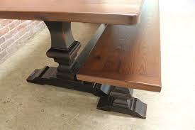 Trestle Table Bench Venetian Trestle Table With Matching Bench Lake And Mountain Home