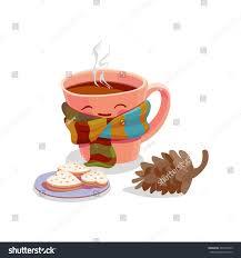 cute mug coffee cacao tea latte stock vector 489767503 shutterstock