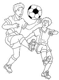 coloring pages soccer kids coloring