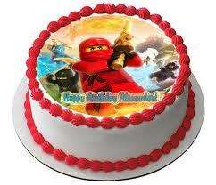 ninjago cake lego ninjago 3 edible birthday cake or cupcake topper edible