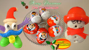 play doh christmas funny faces dough kinder surprise mickey mouse